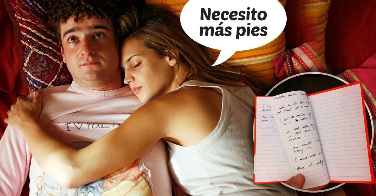 Este chico escribió un diario de las incoherencias que decía su novia mientras dormía