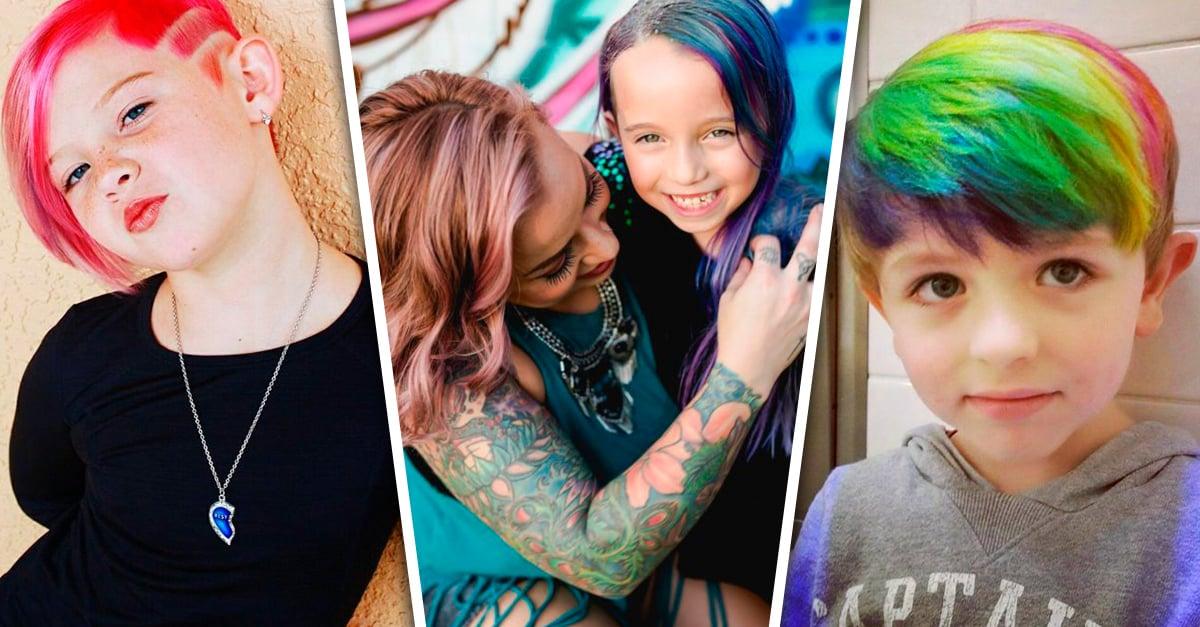 Esta mamá fue criticada por teñir el cabello de su hija; ahora marca tendencia en Instagram