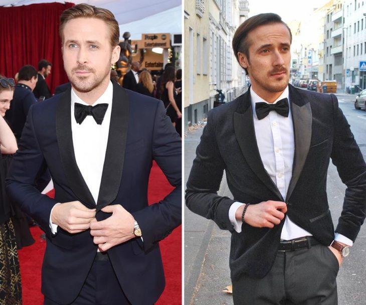 ryan gosling and fake twin