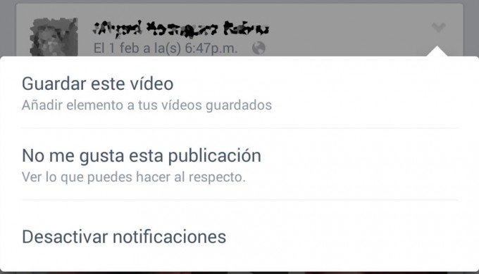 facebook guardar video