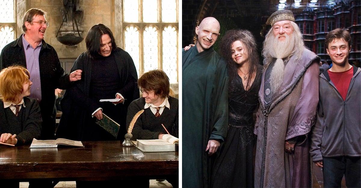 17 Interesantes fotografías de Harry Potter que no conocías durante su filmación
