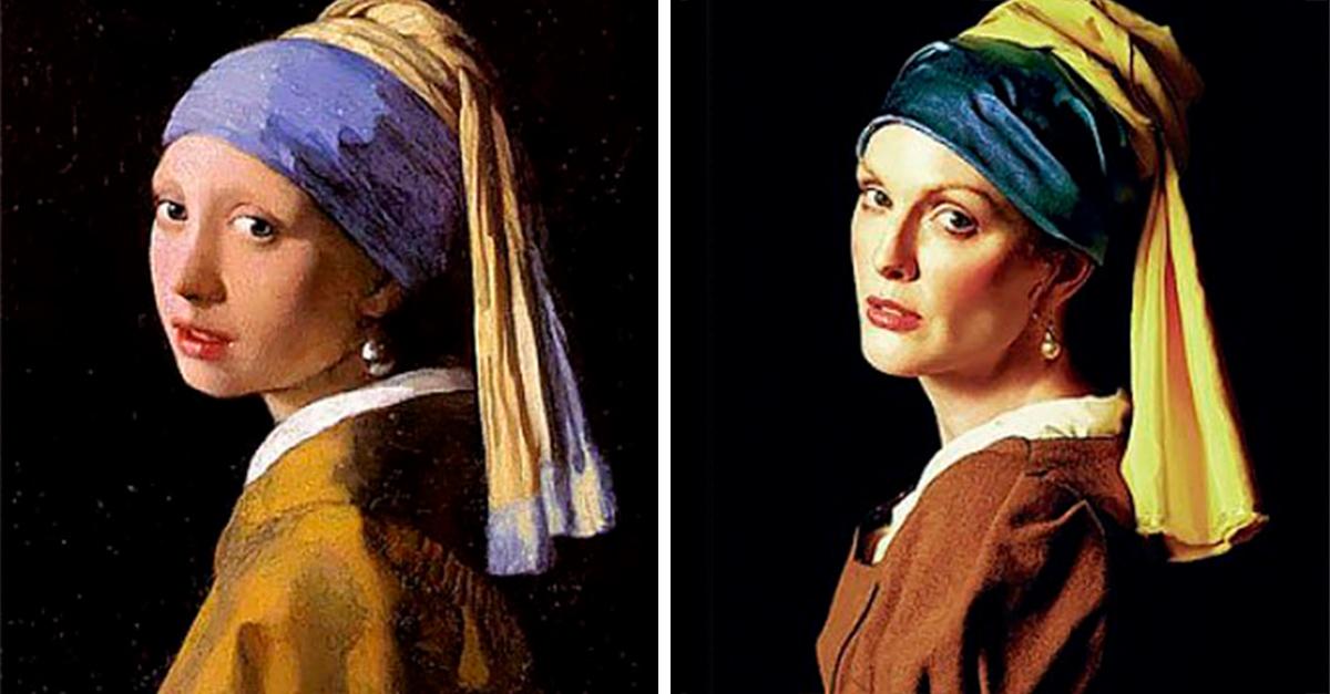 Julianne Moore y Peter Lindbergh crean una fascinante galería de imágenes inspiradas en obras de arte