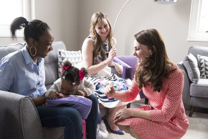 kate middleton helping