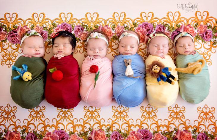 Bebés vestidas como una mini princesa de Disney