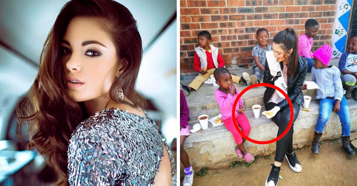 Miss Sudáfrica visitó orfanato de niños con VIH usando guantes; Internet se encuentra furioso