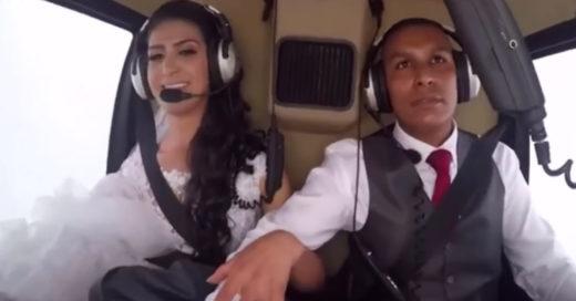 Novia muere en accidente viajando en helícoptero