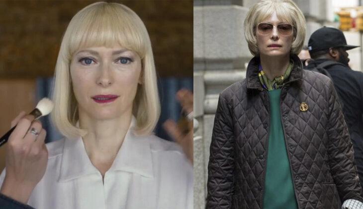 Tilda Swinton interpretando el papel de Lucy Mirando/ Nancy Mirando en la película 'Okja' de 2017