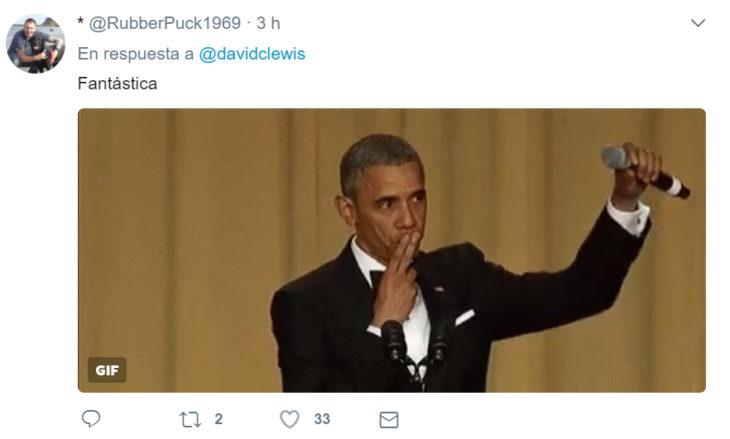 Comentarios en Twitter sobre el gesto de la primera dama polaca a Trump