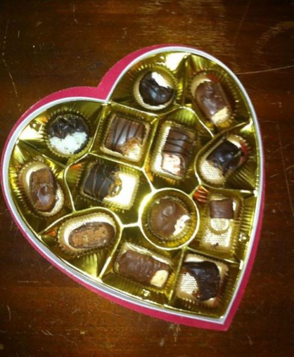 chocolates mordidos