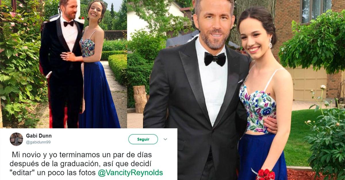 Ryan Reynolds ayuda a una fan a superar un corazón roto; la 'acompaña' a su graduación
