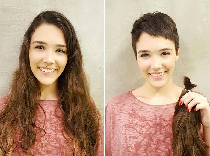 chica cambio de cabello