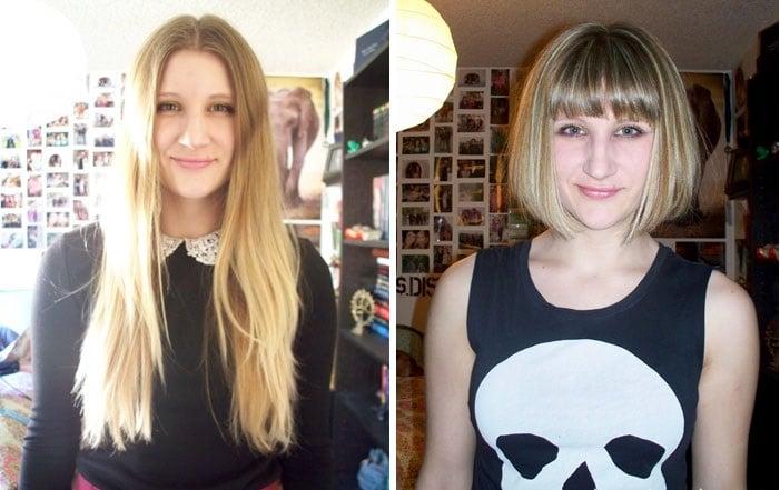 chica corte de cabello