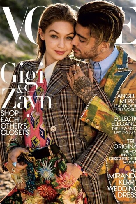 Zaynk y Gigi portada de la revista Vogue