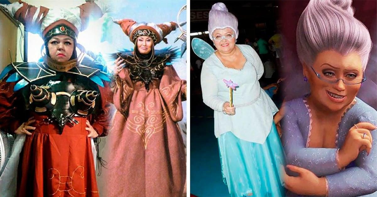 Esta abuelita se disfraza con los mejores cosplay