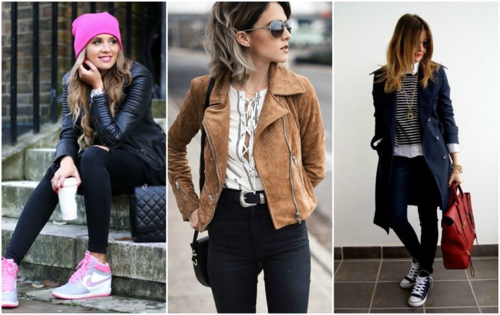 Chicas con chaquetas
