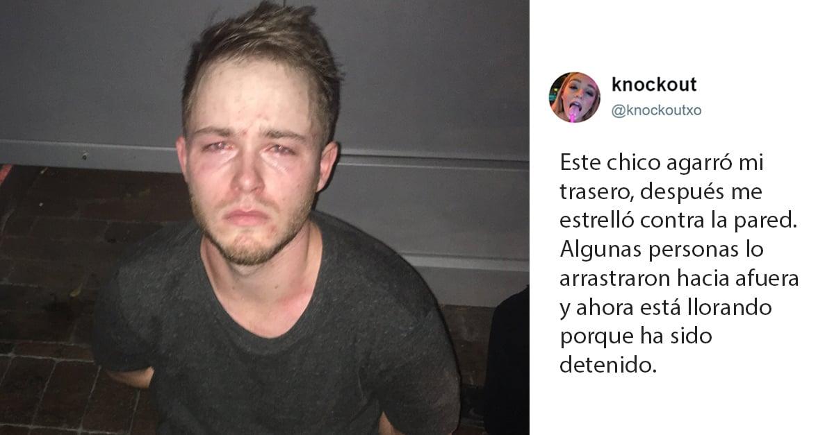 Este acosador terminó llorando después de ser arrestado