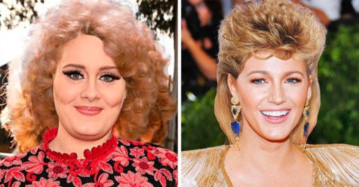 Este sería el look de 15 celebridades si estuviéramos en los años 80's