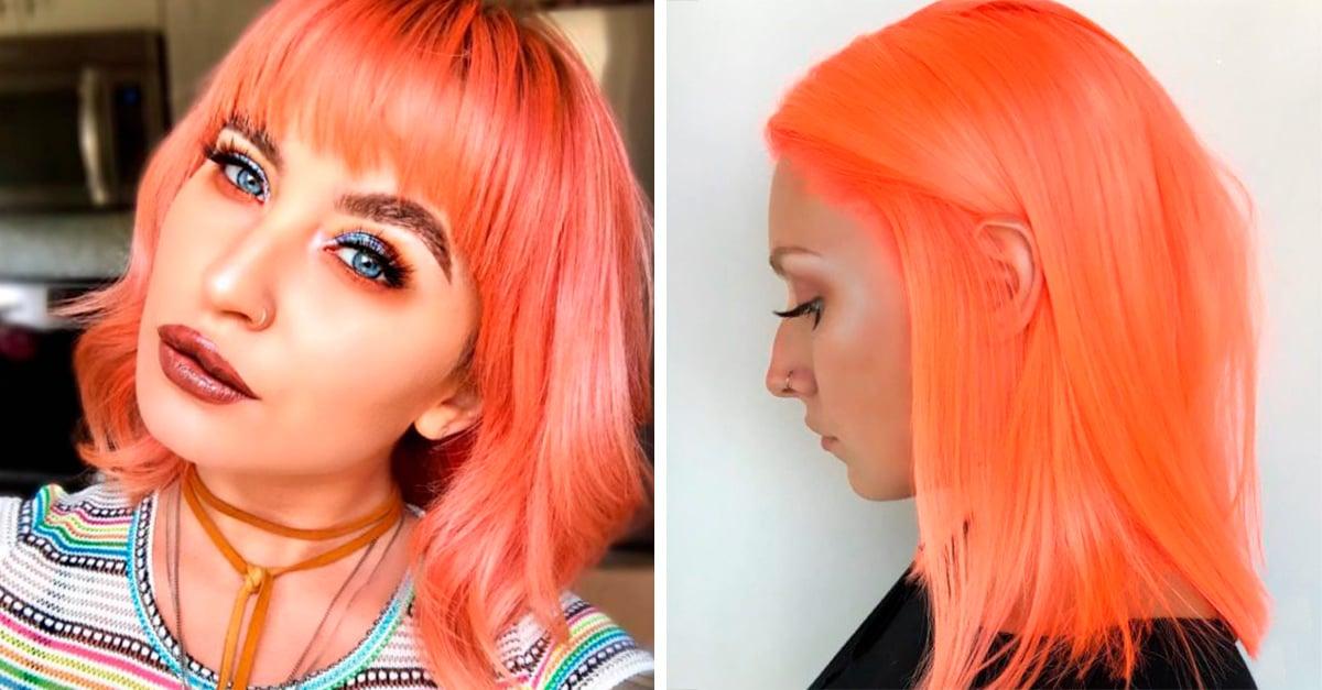 10 razones para que pintes tu cabello de color durazno neón.