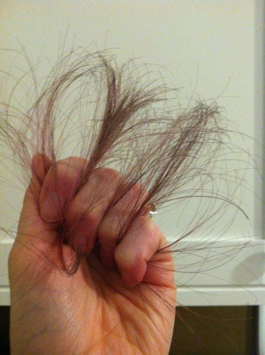 cabello debil