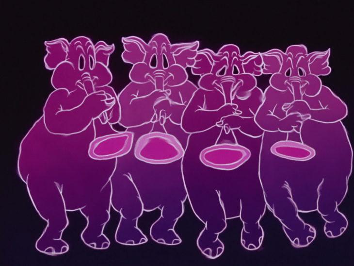dumbo elefantes rosas