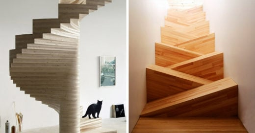 15 Increíbles escaleras modernas que te van a fascinar