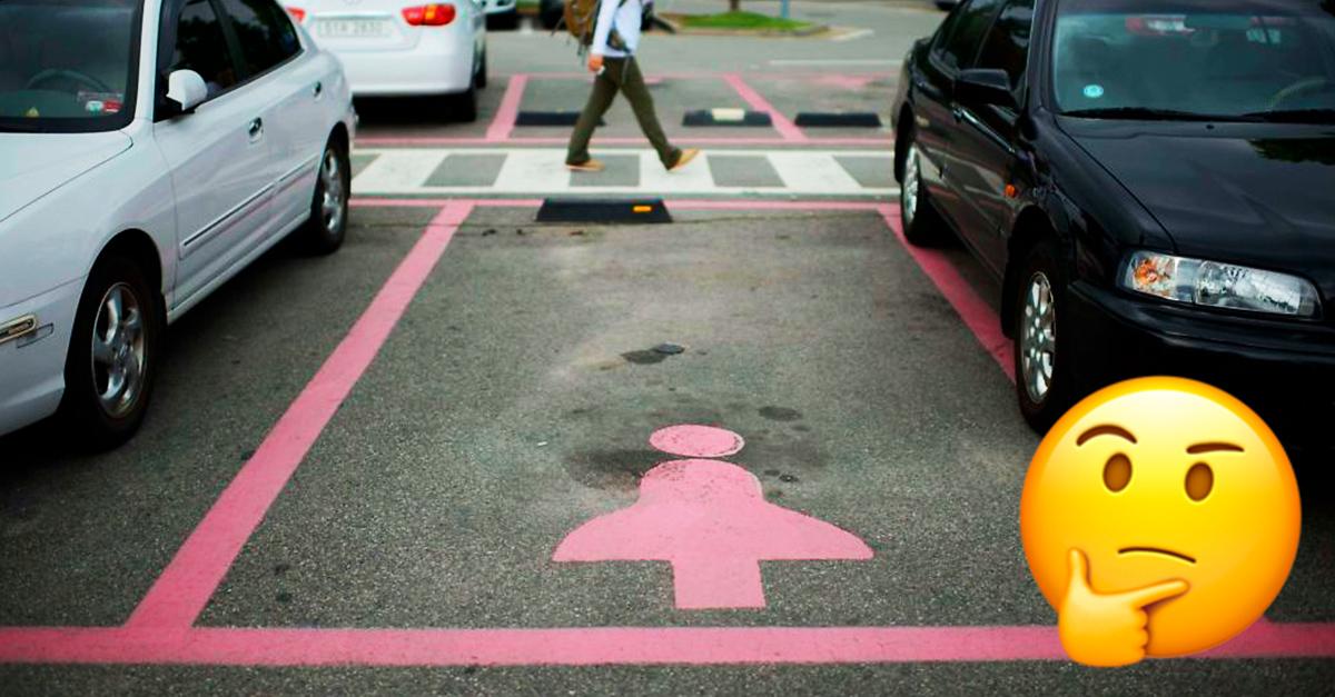 Estacionamiento solo para ellas; Aeropuerto ruso pinta cajones ros