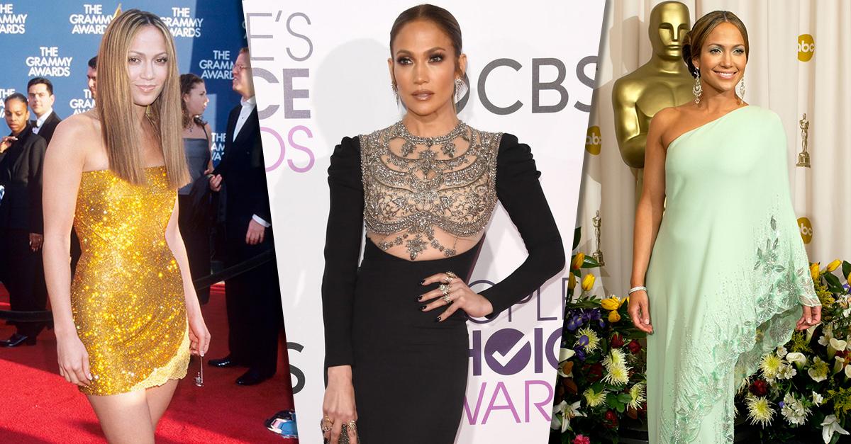 25 Imágenes de la increíble evolución del estilo de Jennifer Lopez
