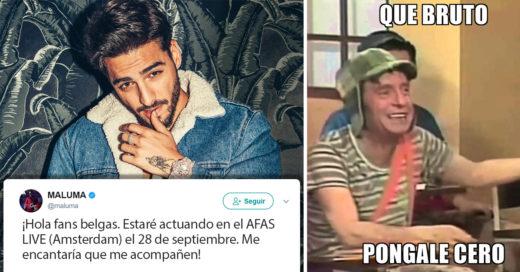¡Ups! Maluma se equivoca en geografía; Internet no lo perdona
