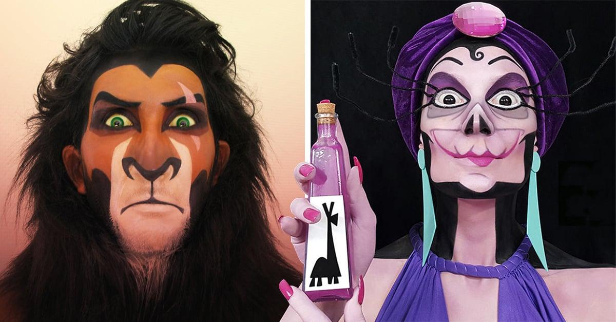 Esta artista se transforma en los villanos de Disney; Instagram la adora
