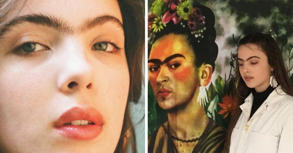 Esta modelo está reivindicando la uniceja al estilo de Frida Kahlo, Instagram la ama