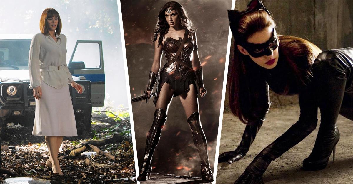 Mujeres en películas corriendo en tacones