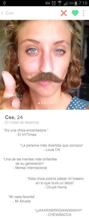 niña bigote