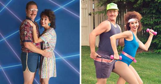 Realizaron una sesión de fotos al estilo de los 80; el resultado te hará morir de la risa