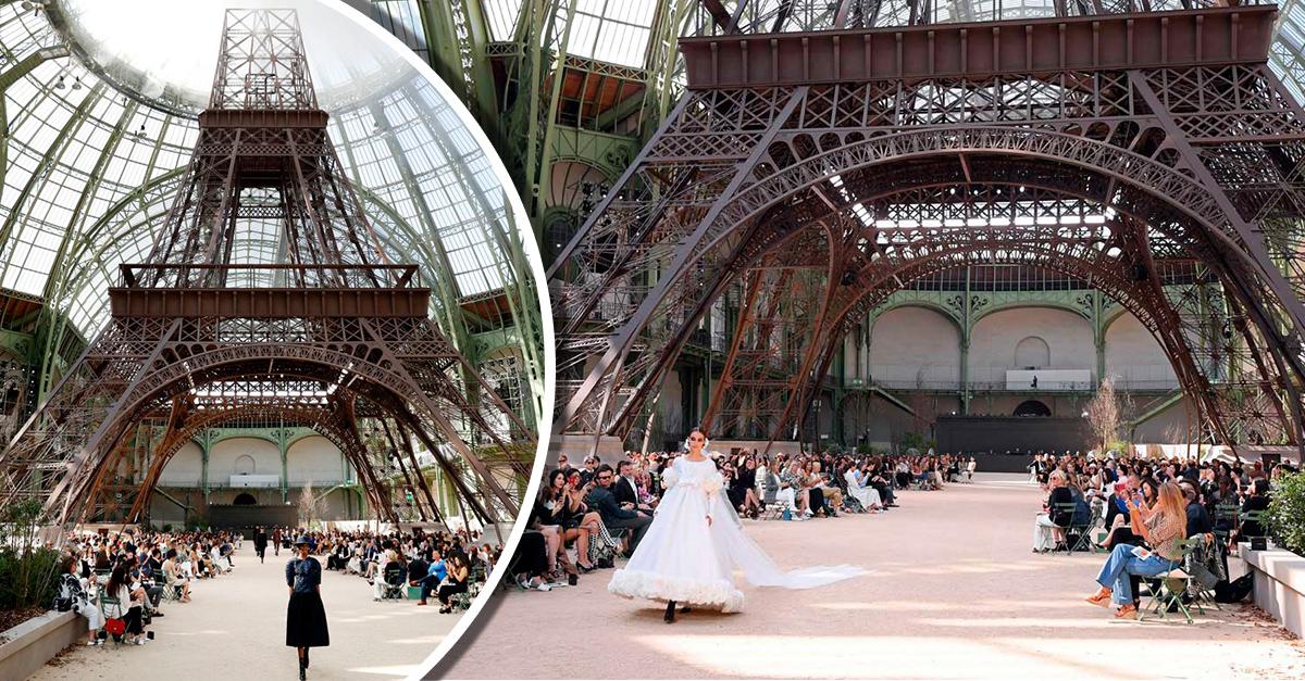 Front Row; la pasarela de Chanel de ensueño que montó una réplica de la Torre Eiffel