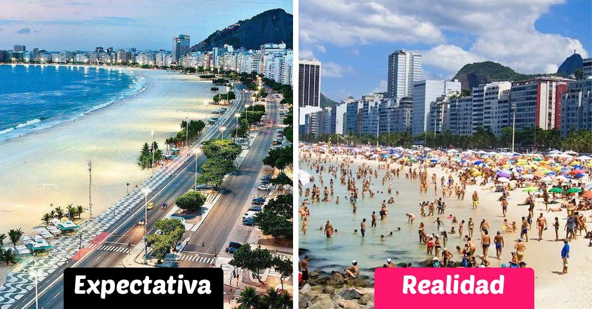 Como lucen 7 de las playas más populares del mundo en la vida real, y no son tan idílicas como pensabas