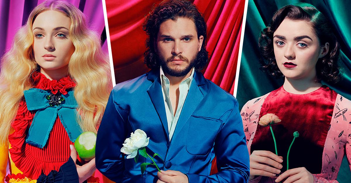 El elenco de 'Game Of Thrones'como nunca lo has visto; realizan sesión fotográfica psicodélica