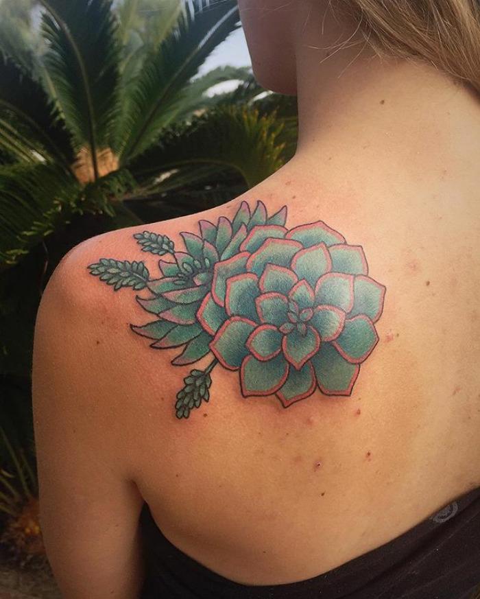 tatuajes suculentas 21