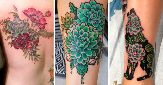 25 Increíbles diseños de tatuajes de suculentas, para quienes han sobrevivido a los golpes de la vida