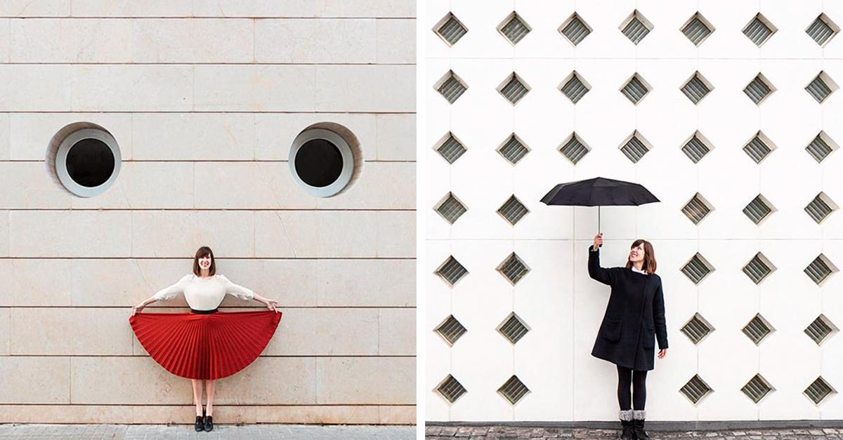 Encantadoras fotografías de un dúo de viajeros que juegan con la arquitectura, tendrás un orgasmo visual