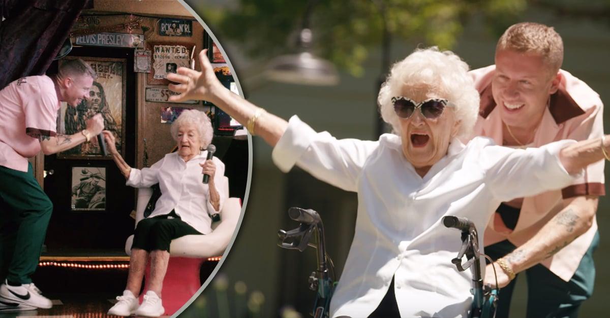 Mcklemore festeja el cumpleaños 100 de su abuela con un divertido video; derretirá tu corazón