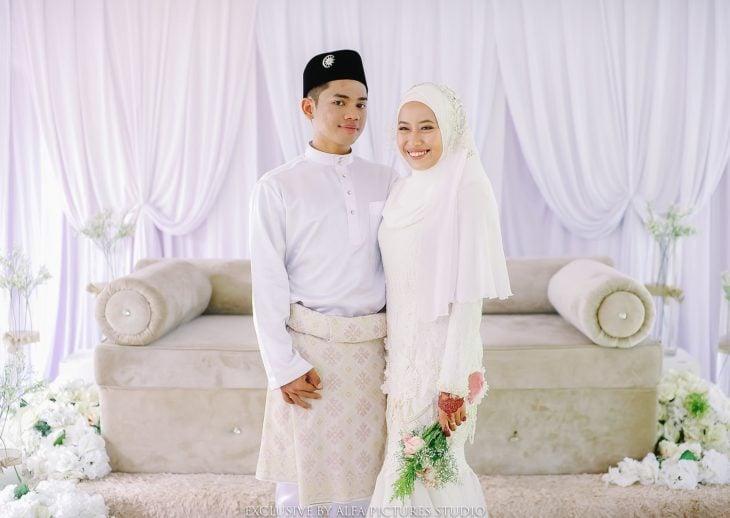 pareja de recien casados de malasia