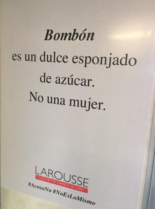 Campaña acoso sexual Bombón no es una mujer