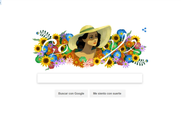 Dolores del Río doodle de Google