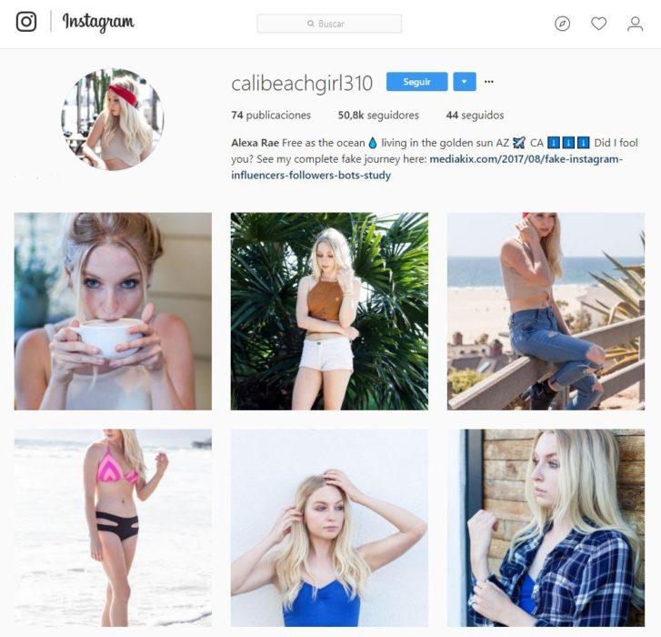 Cómo se estrella de instagram falsa