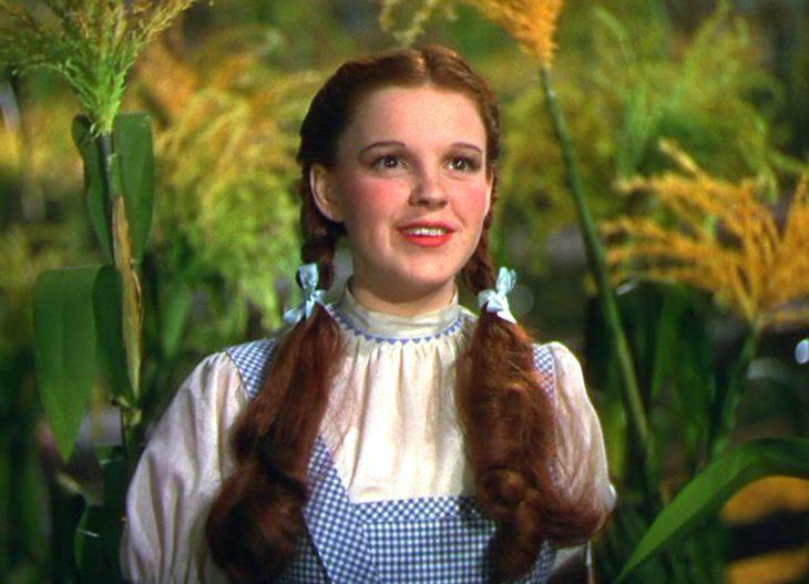Judy Garland como Dorothy en el Mago de Oz