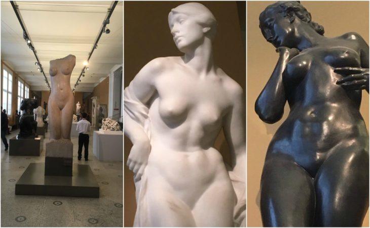 estatuas desnudas en un museo britanico