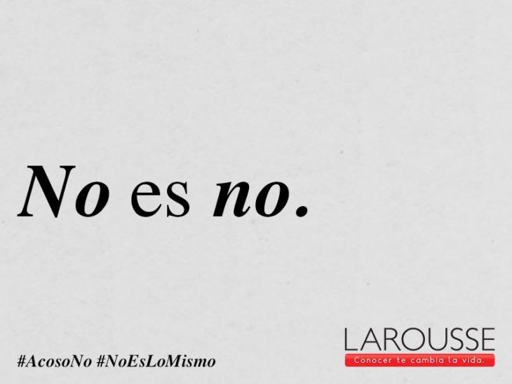 No es No campaña Larousse