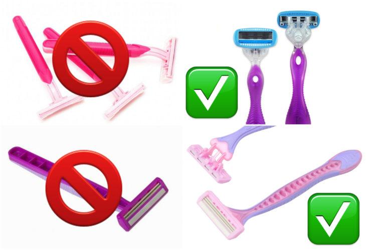 elegir cuchillas adecuadas a la hora de rasurarte