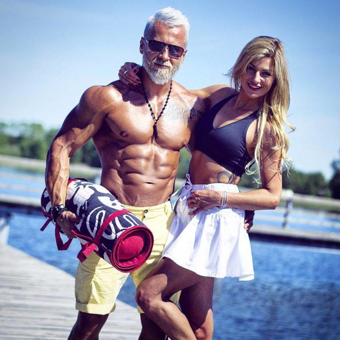 vikingo polaco con su esposa