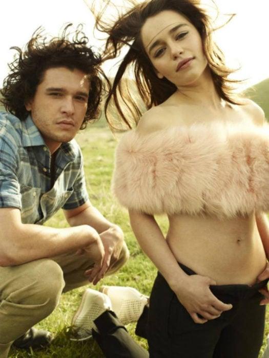 Emilia Clarke y Kit Harrington sesión de Rolling Stone